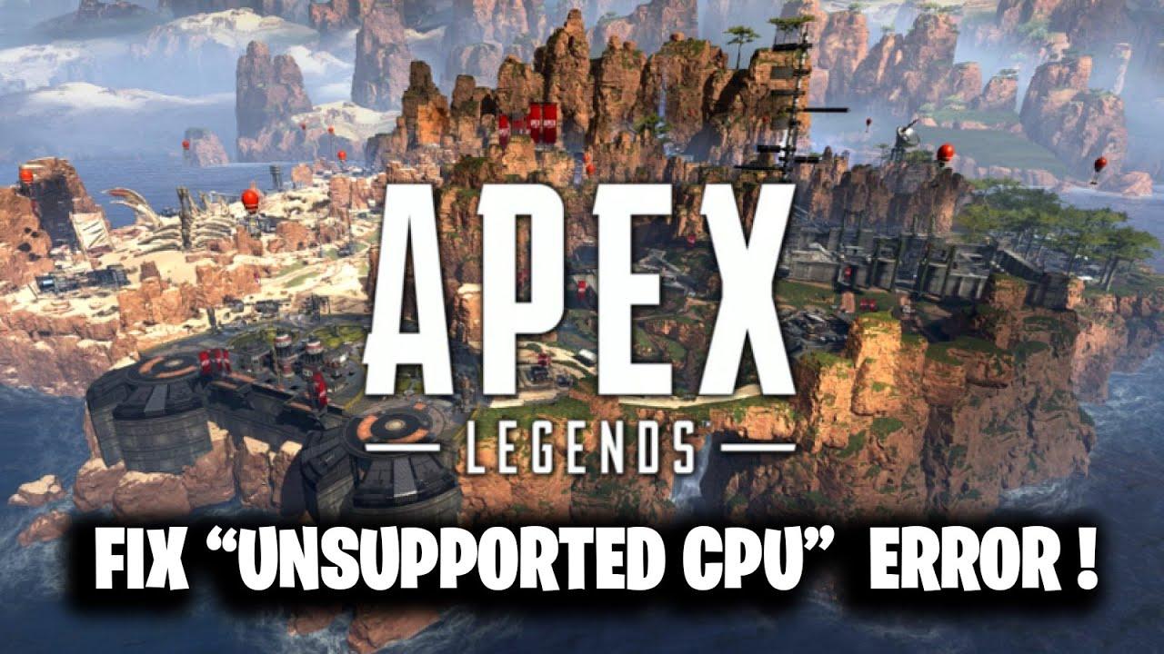 FIX UNSUPPORTED CPU Error Apex Legends ! ( FIX CPU DOES NOT HAVE SSE3 )