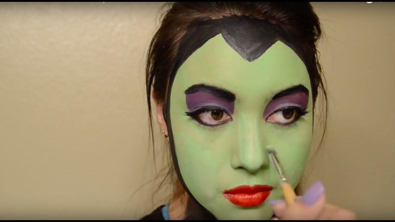 Maleficent Face Paint Makeup