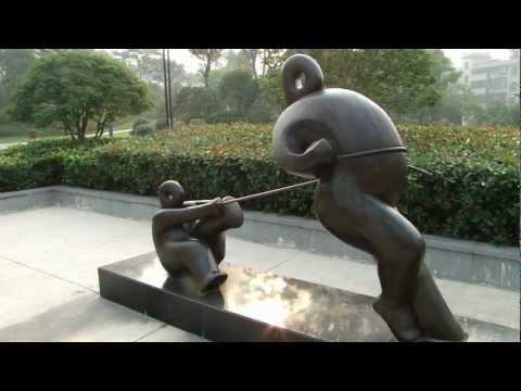 Hangzhou 杭州 - 體育公園雕像 day 7 - 4 ( China )