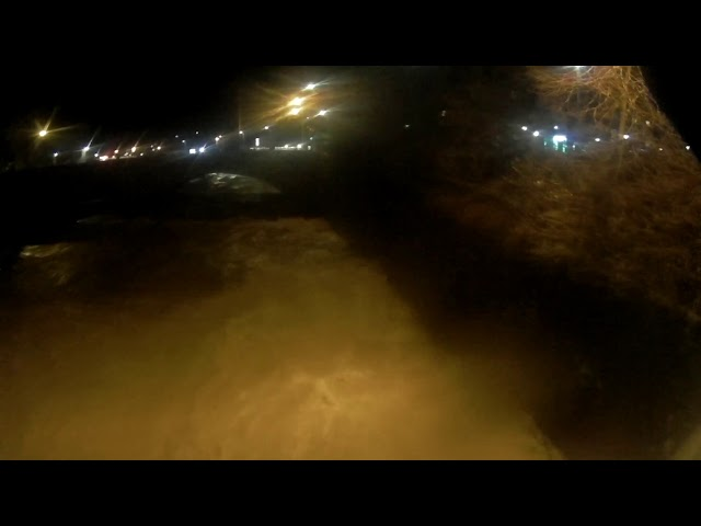 STORM DENNIS Flooded River Teviot in Hawick