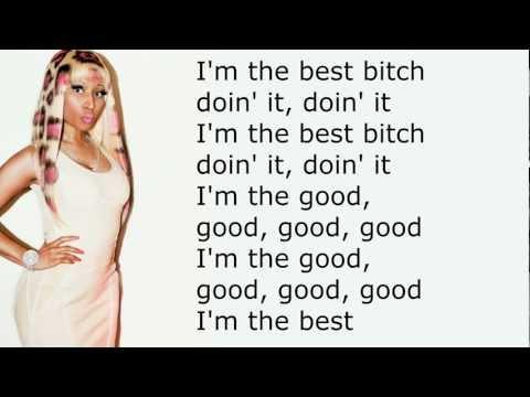 Nicki Minaj - I'm the best lyrics, No pitch change