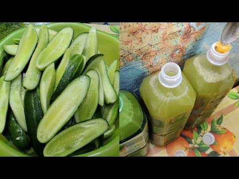 Сок 🍸 из 🥒 огурцов на  зиму (cucumber Juice).