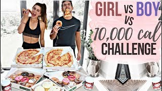 10,000 CALORIE CHALLENGE | BOY vs GIRL vs FOOD | EPIC CHEAT DAY!
