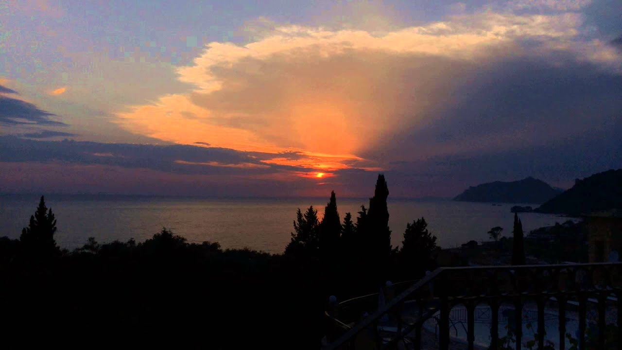 Time Lapse Sunset In Agios Gordios From Dina S Paradise Apartments