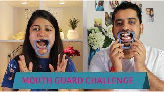 MOUTHGUARD CHALLENGE || SPEAKOUT CHALLENGE WITH HUSBAND || FUNNY CHALLENGE GAME