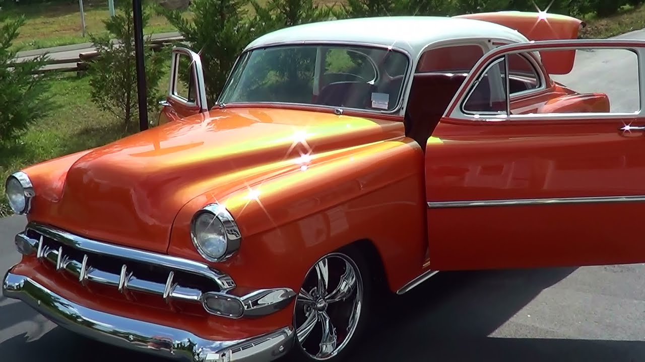 1954 Chevrolet Two Door Post Street Rod   YouTube 1954 Chevrolet Two Door Post Street Rod
