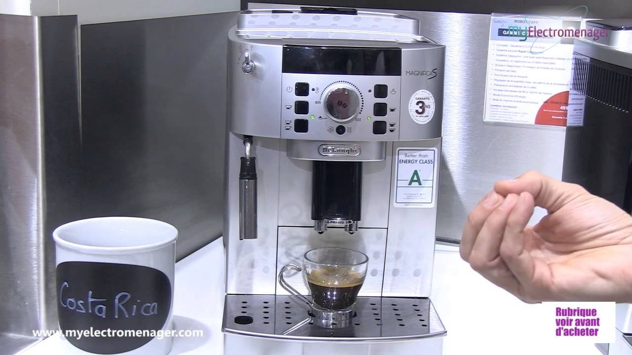 delonghi machine caf magnifica ecam youtube. Black Bedroom Furniture Sets. Home Design Ideas