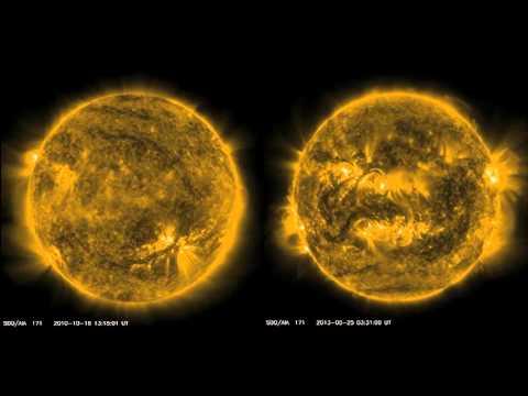 El aumento de la actividad solar en vídeo