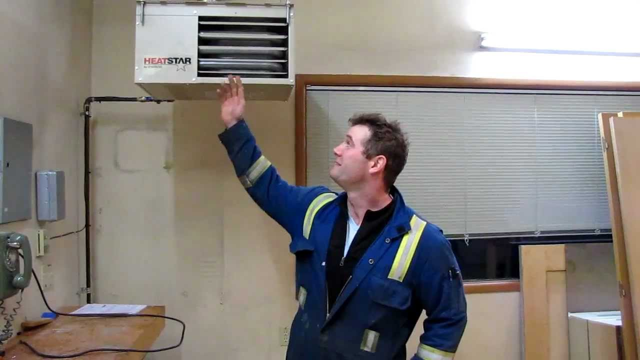 Calcana Garage Heater Vs Unit Heater Youtube