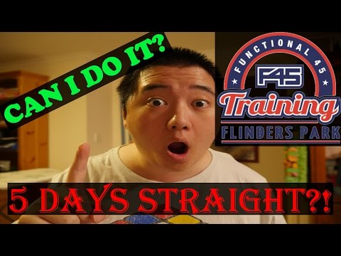 Unfit guy attempts F45 for a week.
