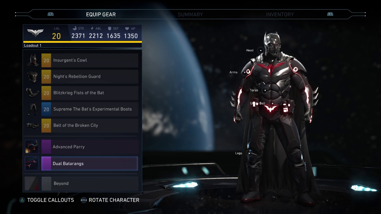 Injustice 2 Batman Beyond Arkham Knight skin Inspired ...
