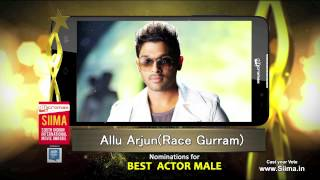 Micromax Siima 2015 | Nominations for Best Actor | Allu Arjun