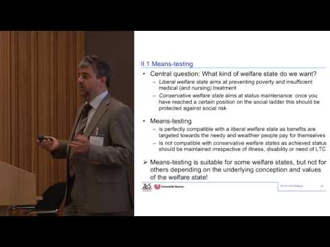 Heinz Rothgang: Funding long-term care in the future: Challenges and policy strategies