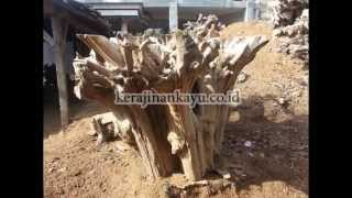 Bar Table Base Natural Free Form Sculpture Teak Root Wood Heavy Quality