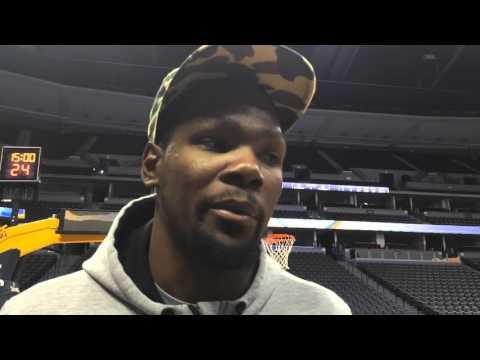 Durant: Shootaround in Denver - Jan. 19, 2016