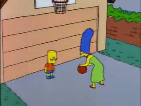 Los simpsons latino bart jugando basketball con marge youtube - Marge simpson et bart ...