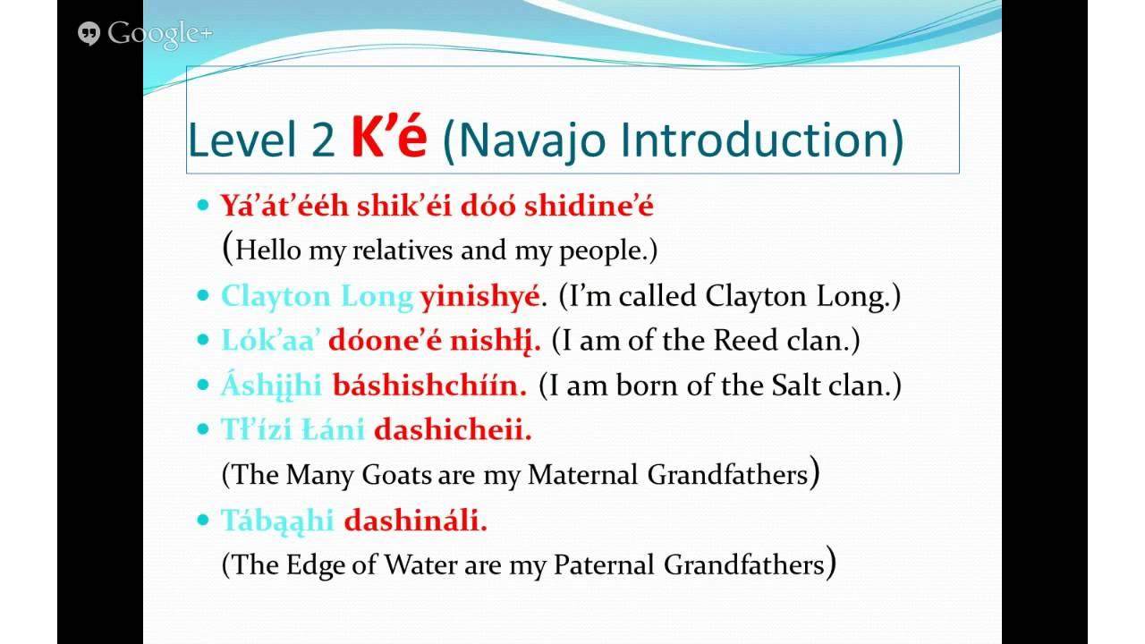 Diagram Basic Navajo Introduction