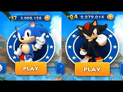 Sonic Dash Android Gameplay - CLASSIC SONIC VS SHADOW