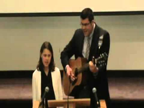 Matthew Reese and  daughter singing