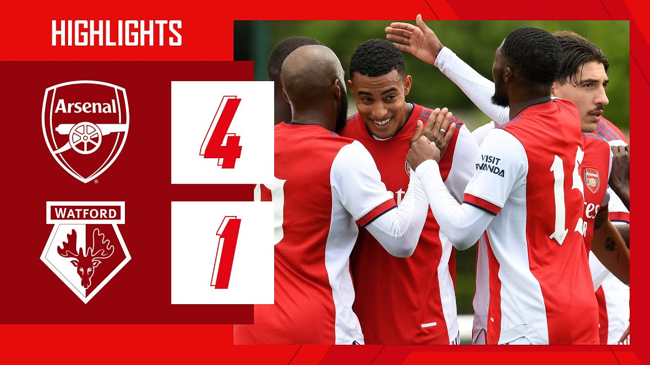 Download HIGHLIGHTS   Arsenal vs Watford (4-1)   Nketiah, Lacazette, Tierney, Azeez