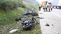HORROR-UNFALL: Vier getötete Motorradfahrer auf A9