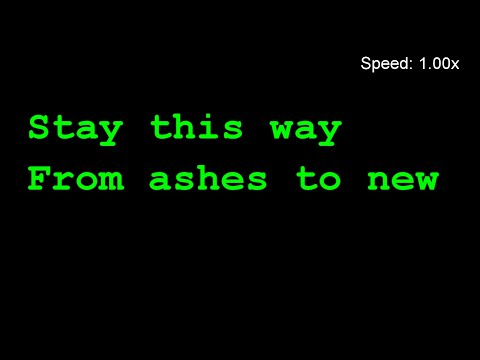 Stay this way By From Ashes to New lyrics