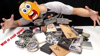 Reunboxing my huge old rusty and dusty collection of fidget spinners - Will it still spin?