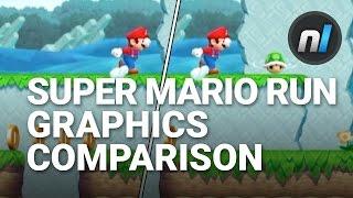 Super Mario Run High / Low Graphics Setting Comparison | Super Mario Run