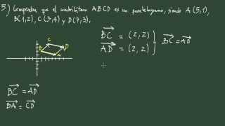 25. Geometría analítica: examen 3 ejercicio 5: paralelogramo