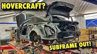 The Audi Rs5 Looks Like A HOVERCRAFT! Extreme Copart Rebuild!