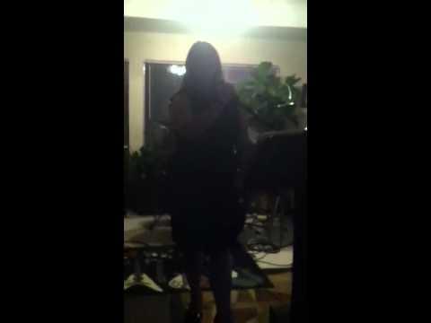 Colleen singing karaoke