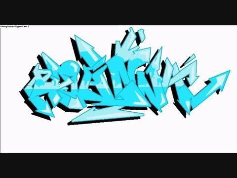 Bubble graffiti letter n