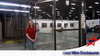 Used Wire Security Cages, Steel Mesh Panels for multiple uses