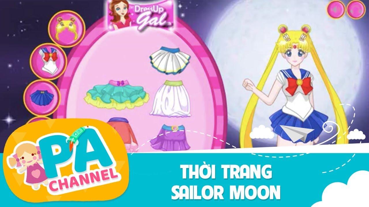 Game thời trang thủy thủ mặt trăng pha lê biến hóa| Trò chơi thời trang Sailor Moon | PA Channel