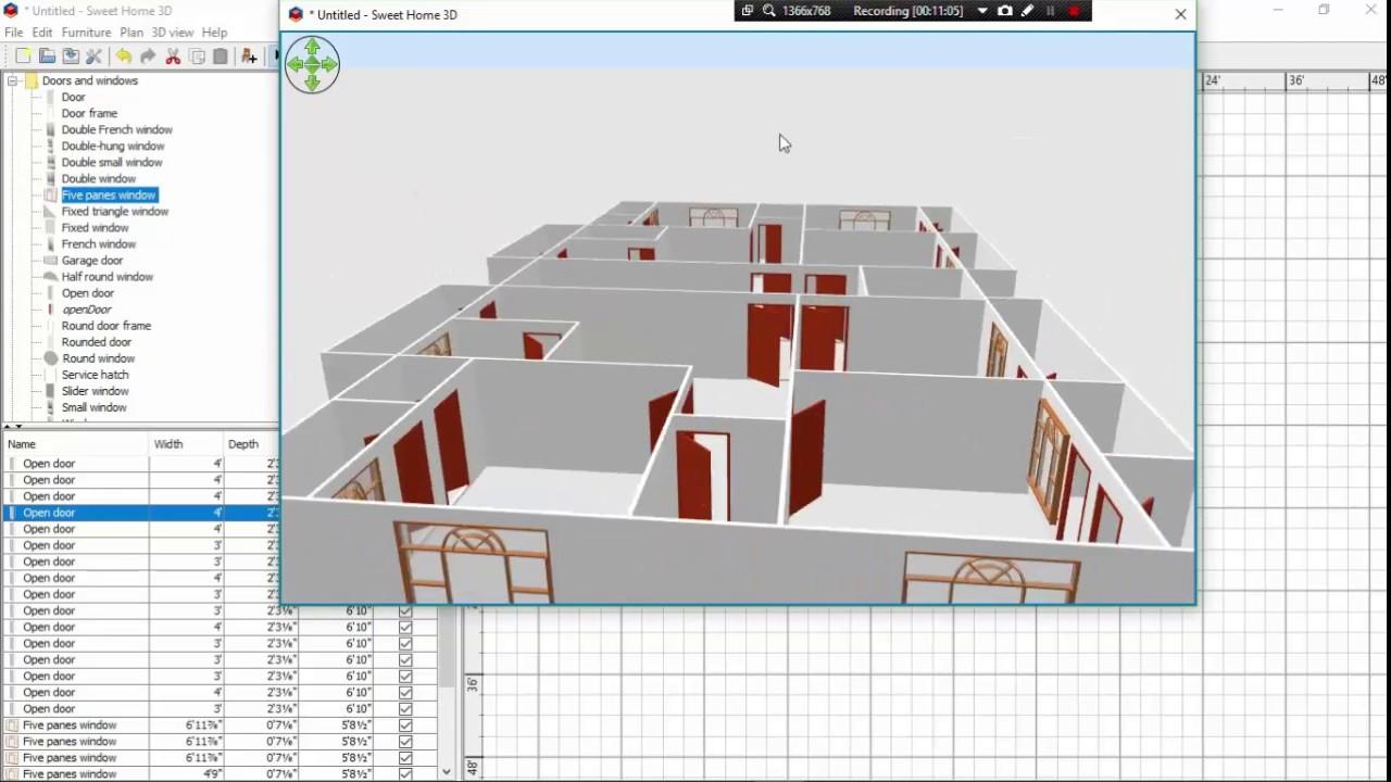 SWEET HOME 3D CLASS 5 . INTERIOR DESIGN PART 1 - YouTube