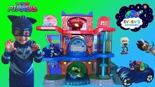 PJ Masks Headquarters Playset Unboxing PJ Masks Toys Catboy Gekko IRL Owlette Romeo Luna Disney Toys