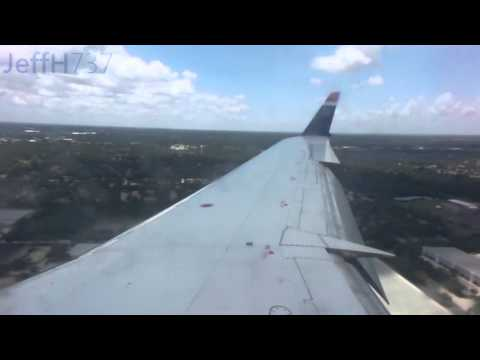 US Airways Express (PSA) CRJ-200 Landing in Melbourne, Florida (MLB)