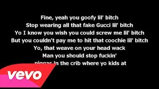 Cassidy - Lookin Ass Bitches (Lyrics On Screen) (Nicki Minaj Response/Diss)