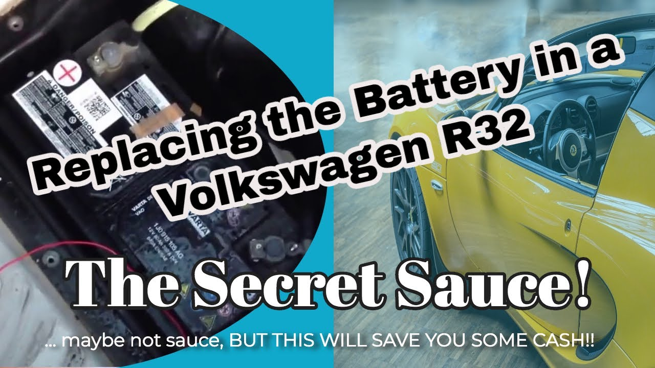 Replacing the battery in a Volkswagen R32 - YouTube