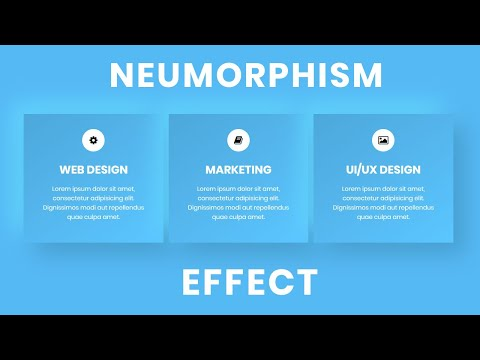 Service section with Neumorphism Effect | Neomorphism UI Design Tutorial