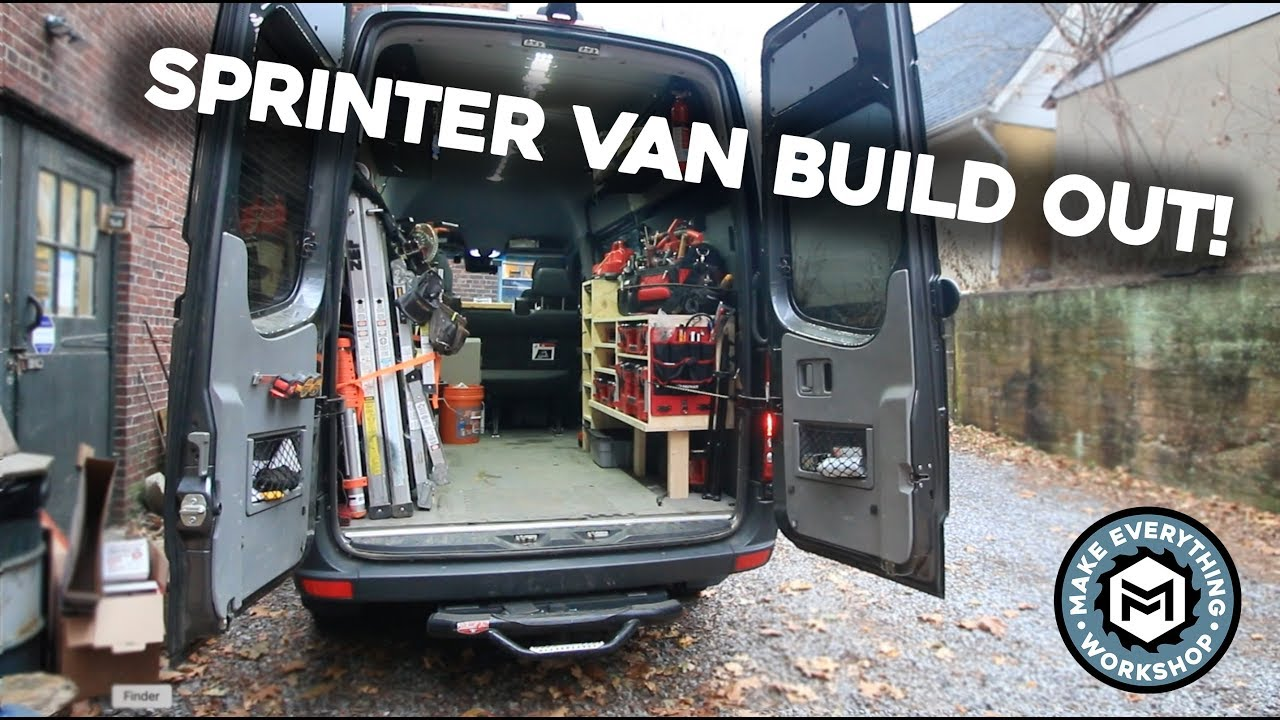 Sprinter Van Build Out Super Organized Youtube