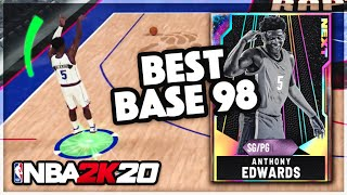 GALAXY OPAL BASE 98 ANTHONY EDWARDS!! He Has The BEST RELEASE In NBA 2k20 MyTEAM!!