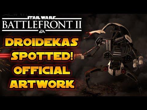 Droidekas Spotted! Official Star Wars Battlefront 2 Artwork Reveals Destroyers! thumbnail