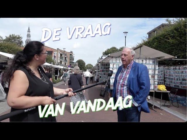 De vraag van vandaag - vrijdagmarkt Heemskerk 3 juli