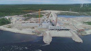 В Карелии завершено строительство плотины на реке Кемь - элемента будущих Белопорожских ГЭС.