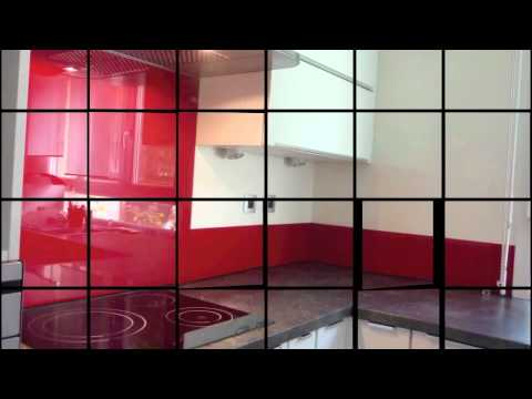 verre laqué sur mesure crédence en verre.m4v - youtube - Credence En Verre Transparent Cuisine