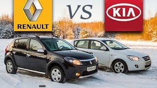 ВОЙНА МАШИН #1: Renault Sandero Stepway 2013 против KIA cee'd 2008