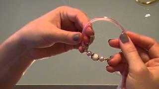 Урок розовый браслет (memory wire bracelet)