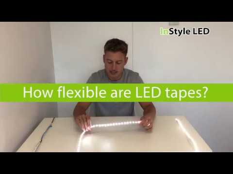 How flexible are LED tapes?