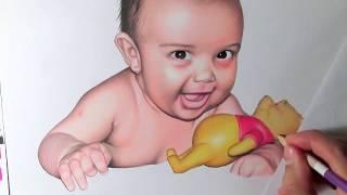 Desenho com Lápis de cor - Coloured Pencil Drawing - Speed Drawing